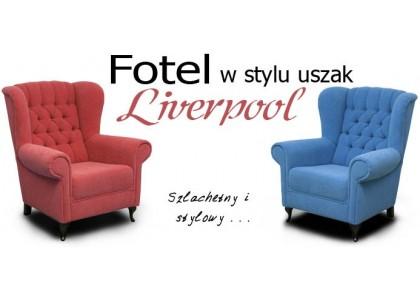 Fotel Liverpool z pikowanym oparciem