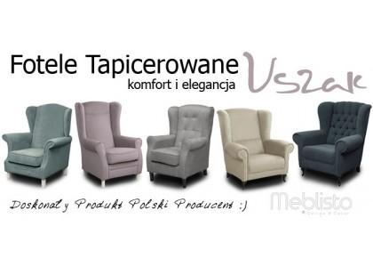 Fotele tapicerowane w stylu uszak