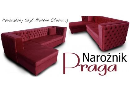 Narożnik Pikowany Praga W Stylu Modern Classic