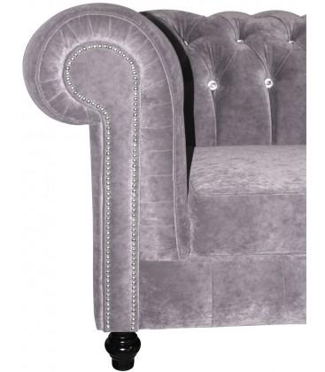 Sofa Chesterfield Lovely guziki kryształki