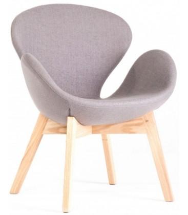 Krzesło tapicerowane w stylu Swan