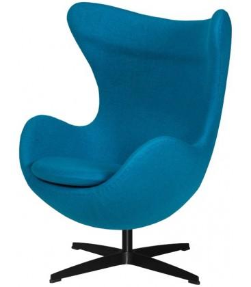 Fotel w stylu Egg Classic Wełna w kolorze turkusowym