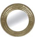 Lustro okrągłe Rotam Gold Mosiądz