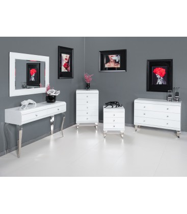Komoda Modern Glam Black & White