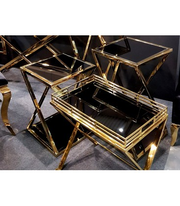 Stolik Pattern Gold