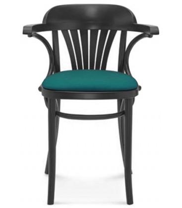 Krzesło Fort z podłokietnikami tapicerowane