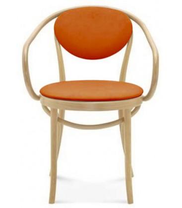 Krzesło Michael z podłokietnikami tapicerowane