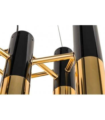 Lampa wisząca seria Pipe Gold & Black 60 cm