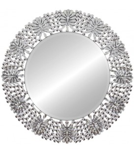 Lustro Okrągłe Flora Crystalik II