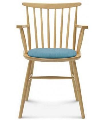 Krzesło Kansas II z podłokietnikami tapicerowane