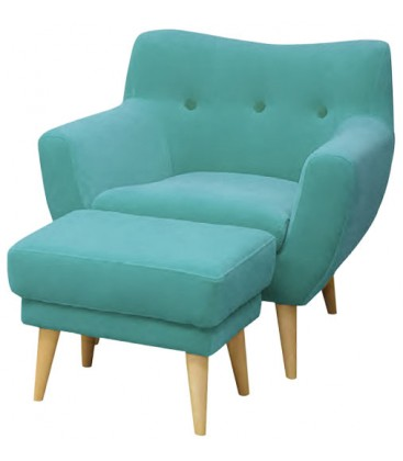 Fotel Kanu z podnóżkiem