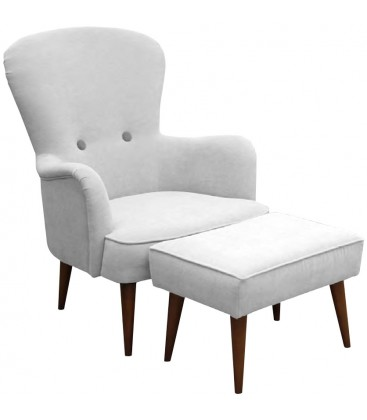 Fotel Jena z podnóżkiem