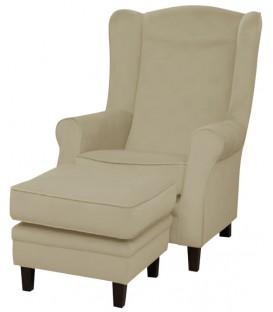 Fotel Elton z podnóżkiem