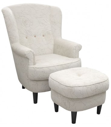 Fotel Dalia z podnóżkiem