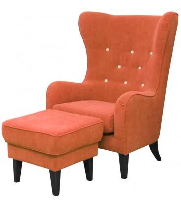 Fotel April z podnóżkiem