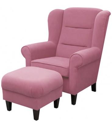 Fotel Irma z podnóżkiem
