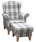 Fotel Ester z podnóżkiem