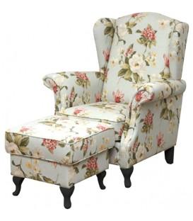 Fotel Ester z podnóżkiem Styl