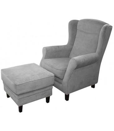 Fotel Darla z podnóżkiem