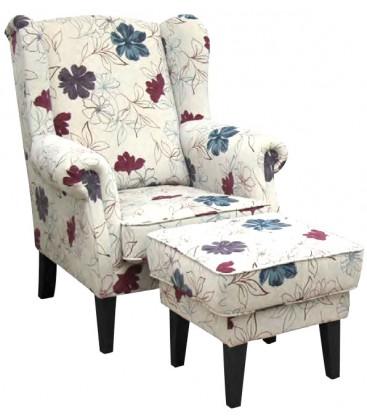 Fotel William z podnóżkiem