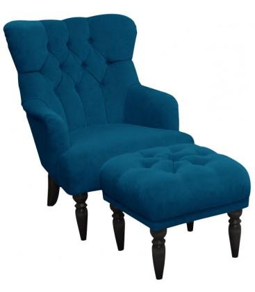 Fotel Aria z podnóżkiem