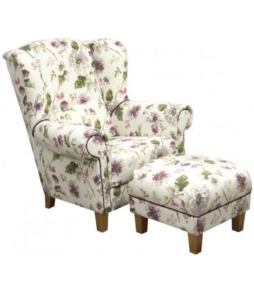 Fotel Alma z podnóżkiem