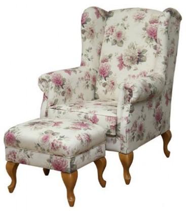 Fotel Dolly z podnóżkiem
