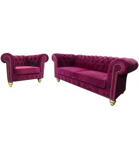 Komplet Chesterfield Velvet