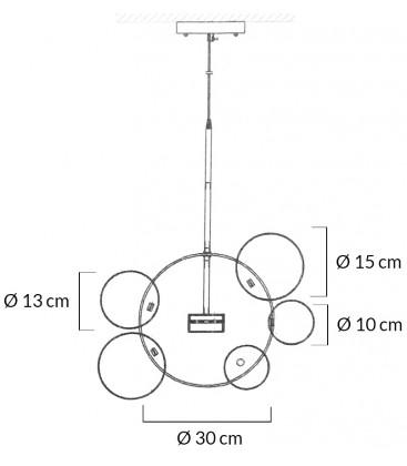 Lampa Capri 6 kloszy