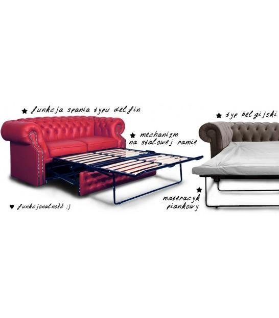 Bardzo dobry Sofa Chesterfield - Sofa z Funkcją Spania   Sofa Pikowana QZ01