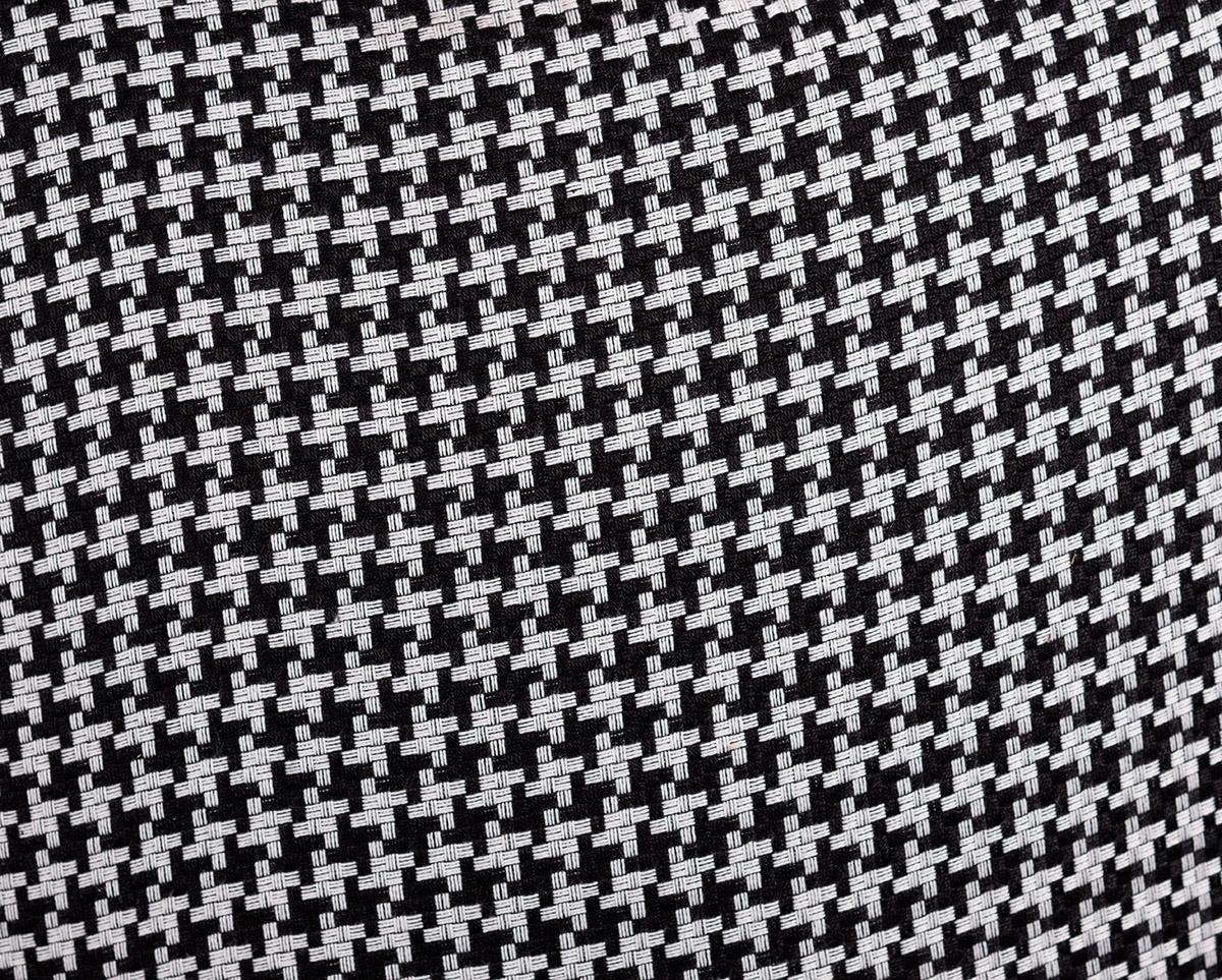 wzór drobna pepitka czarno biały