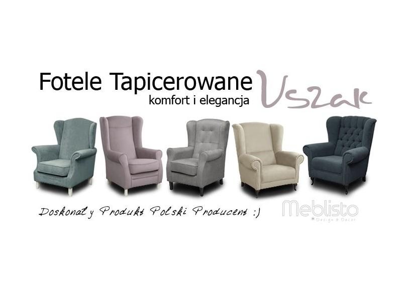 Wszystkie nowe Fotele tapicerowane w stylu uszak - meblisto.pl EJ94
