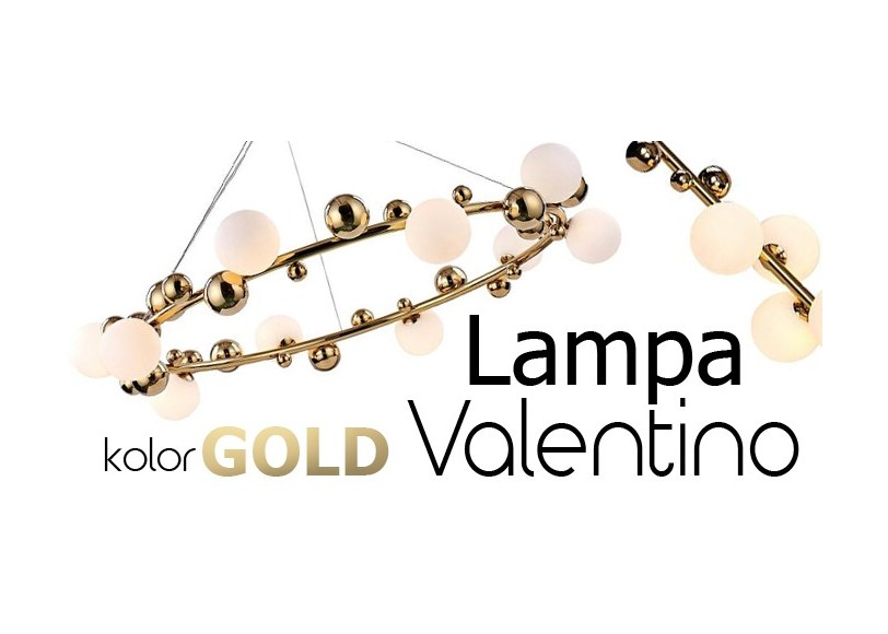 Złota lampa Valentino