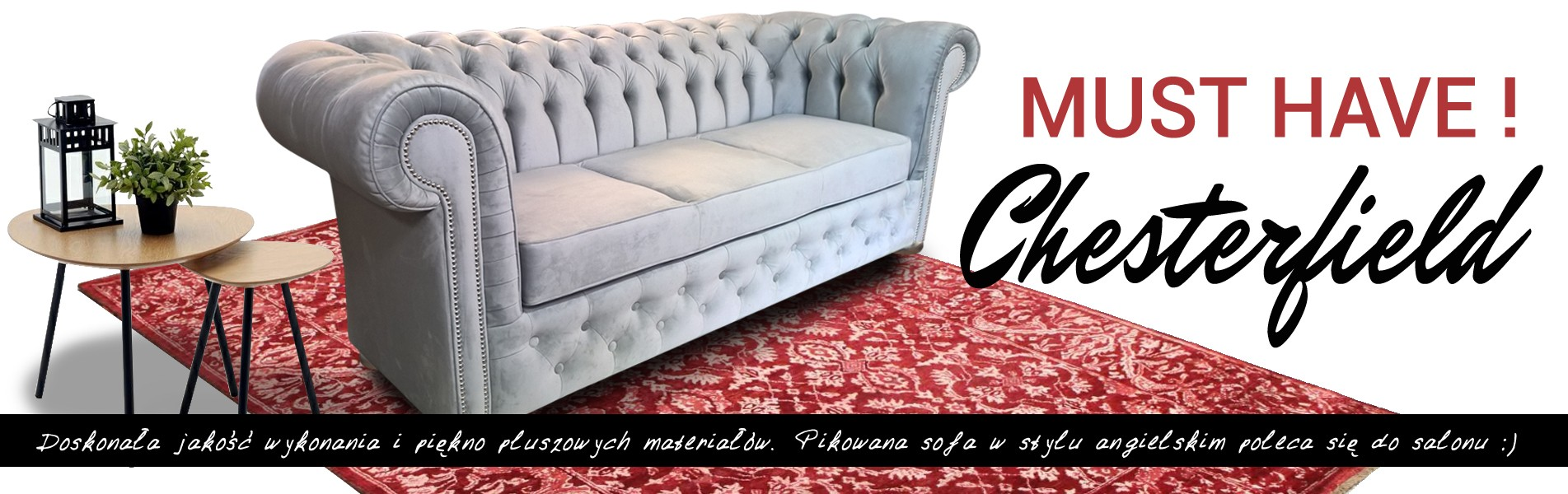 sofa pikowana chesterfield