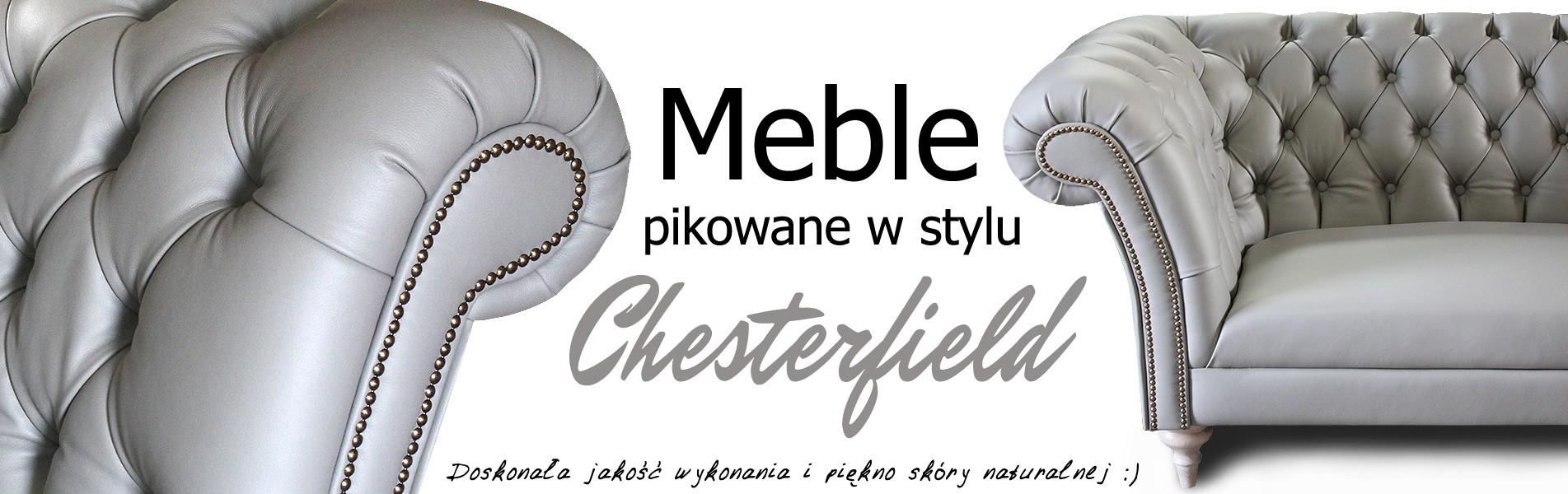 Meble chesterfield pikowane
